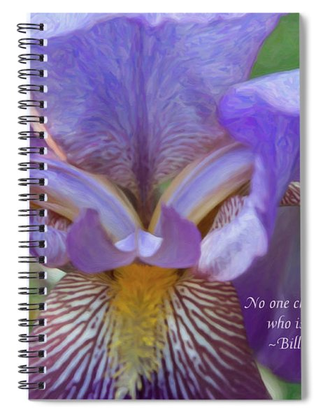 Changing The World - Motivational Flower Art By Omaste Witkowski Spiral Notebook