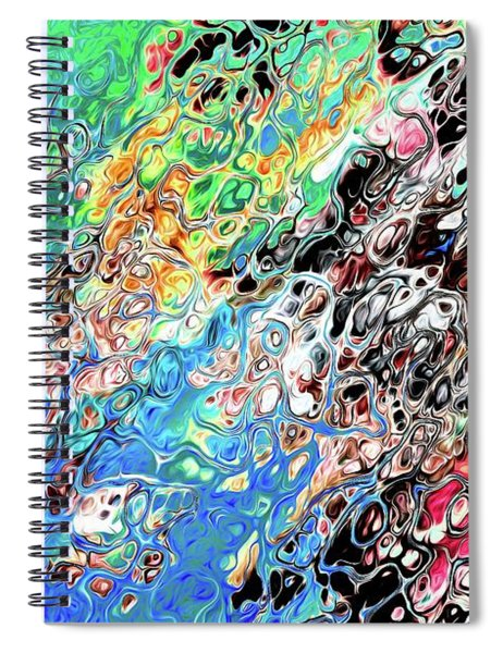 Chaos Abstraction Bright Spiral Notebook