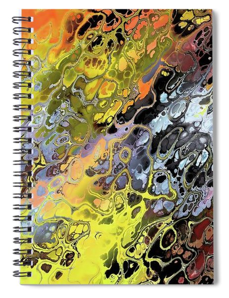 Chaos Abstraction Orange Spiral Notebook