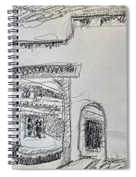 Charcoal Pencil Arch.jpg Spiral Notebook