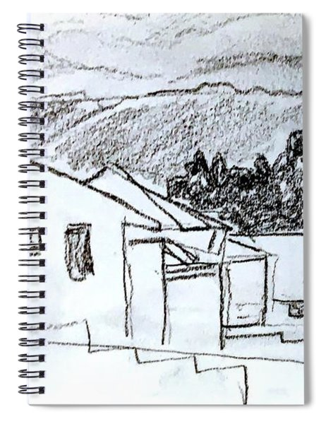 Charcoal Pencil Houses.jpg Spiral Notebook