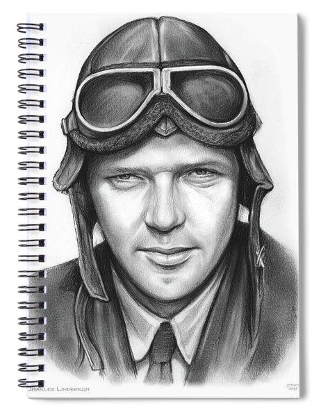 Charles Lindbergh Spiral Notebook