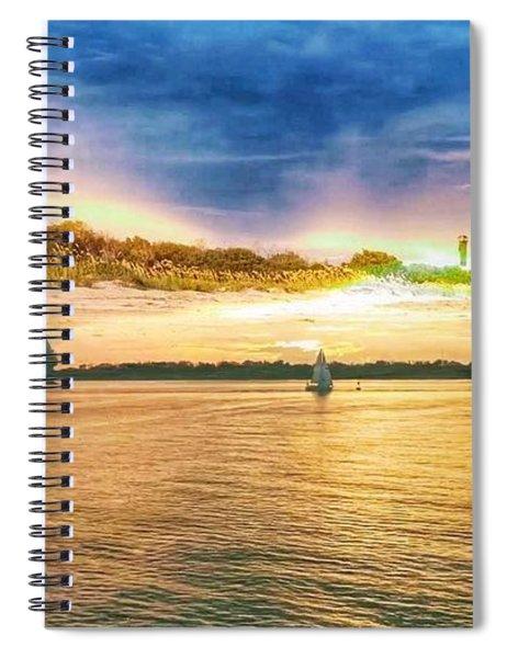 Charleston Harbor Sc Spiral Notebook