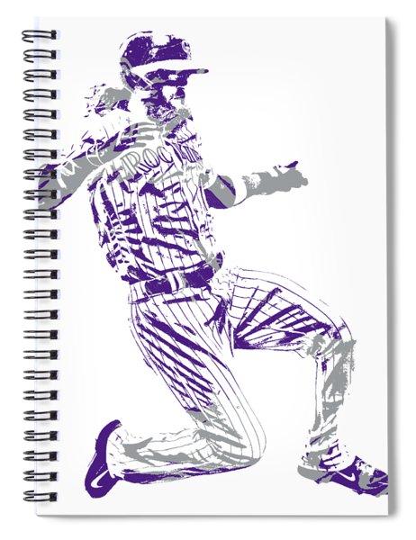 Charlie Blackmon Colorado Rockies Pixel Art 3 Spiral Notebook