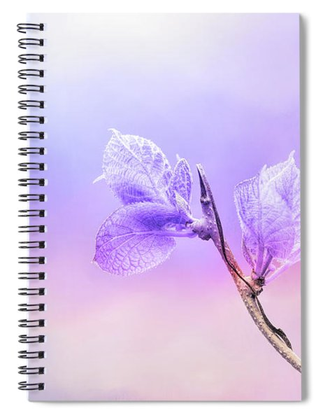 Charming Baby Leaves In Purple Spiral Notebook