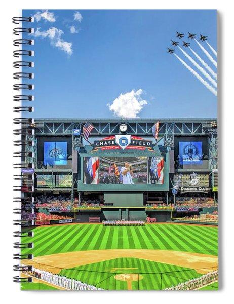 Chase Field Arizona Diamondbacks Baseball Ballpark Stadium Spiral Notebook