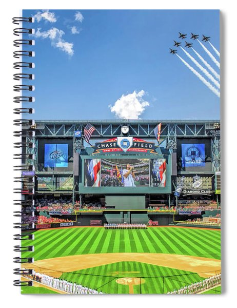 Chase Field Arizona Diamondbacks Baseball Ballpark Stadium Spiral Notebook