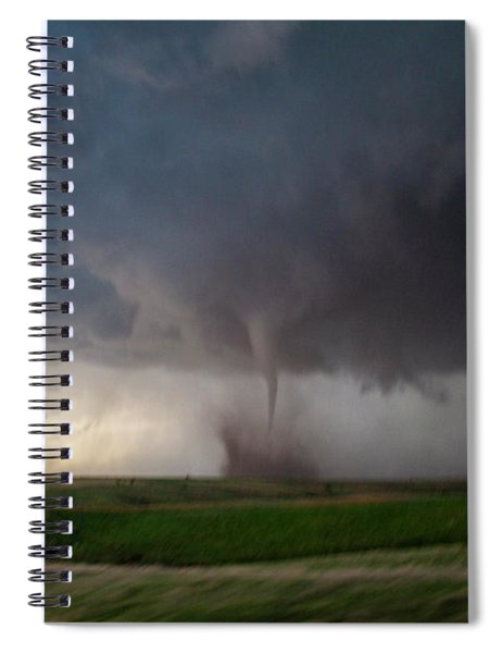Spiral Notebook featuring the photograph Chasing Naders In Nebraska 026 by Dale Kaminski