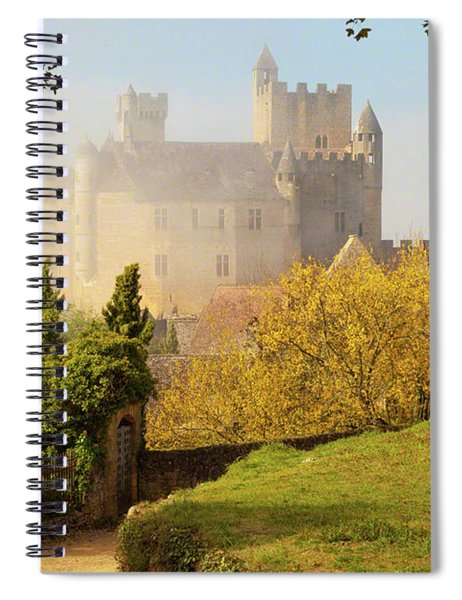Chateau Beynac In The Mist Spiral Notebook