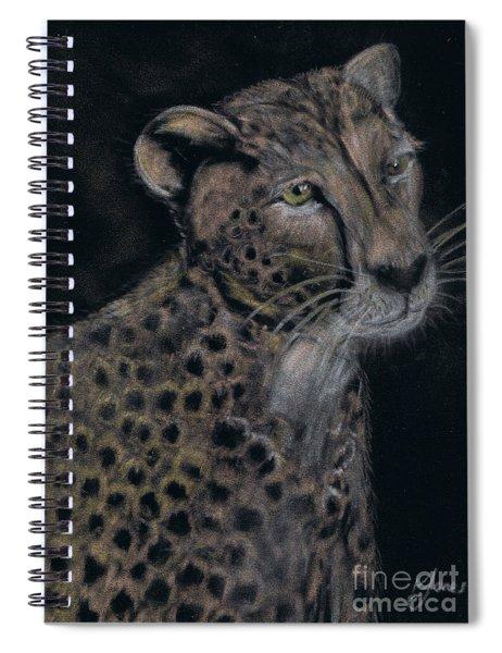 Cheetah Portrait In Pastels Spiral Notebook