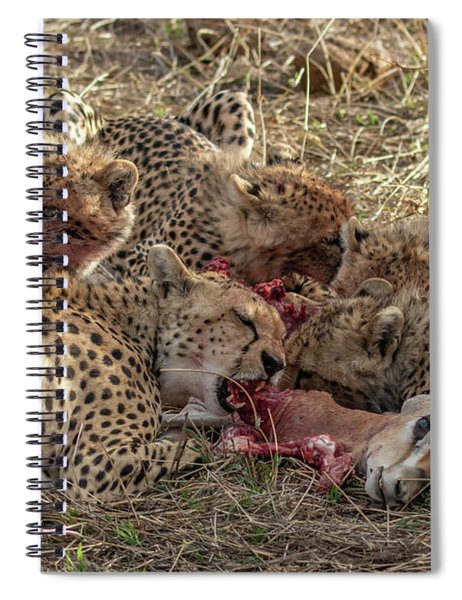 Cheetahs And Grant's Gazelle Spiral Notebook