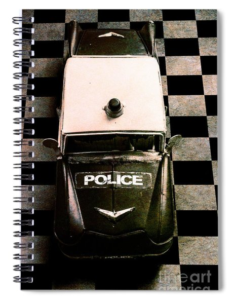 Chequered Past Spiral Notebook