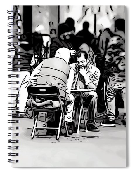 Chess Match Union Square  Spiral Notebook