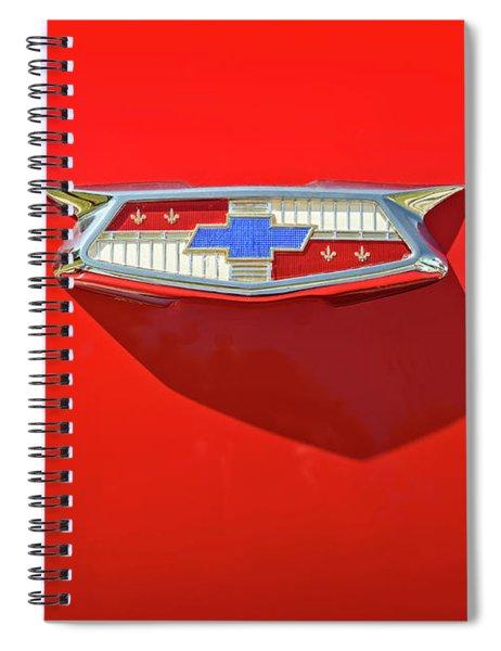 Chevrolet Emblem On A 55 Chevy Trunk Spiral Notebook