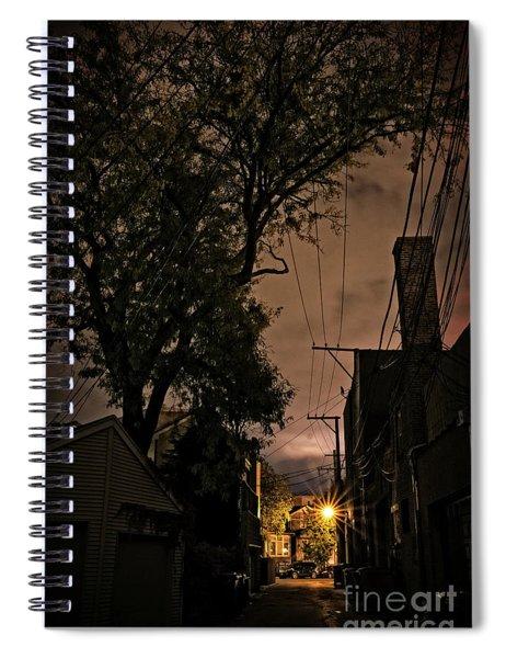Chicago Alley At Night Spiral Notebook