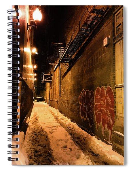 Chicago Alleyway At Night Spiral Notebook