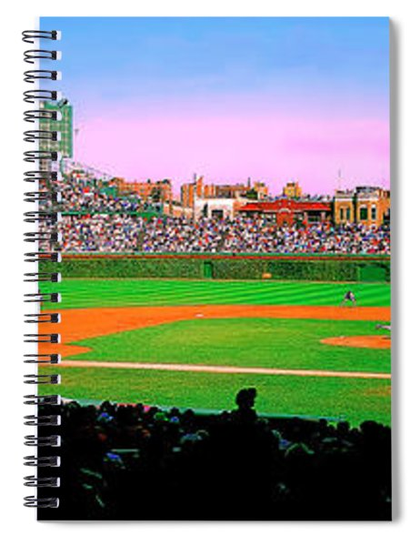 Chicago Cubs Wrigley Field  Third And Home   Spiral Notebook