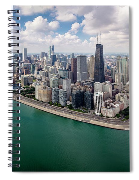Chicago Gold Coast Aerial Panoramic Spiral Notebook