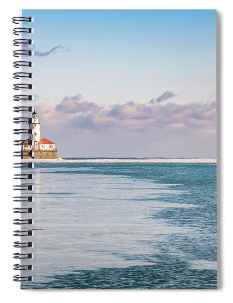 Chicago Harbor Light Landscape Spiral Notebook