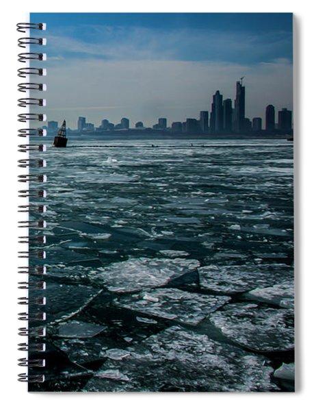Chicago In Winter Spiral Notebook