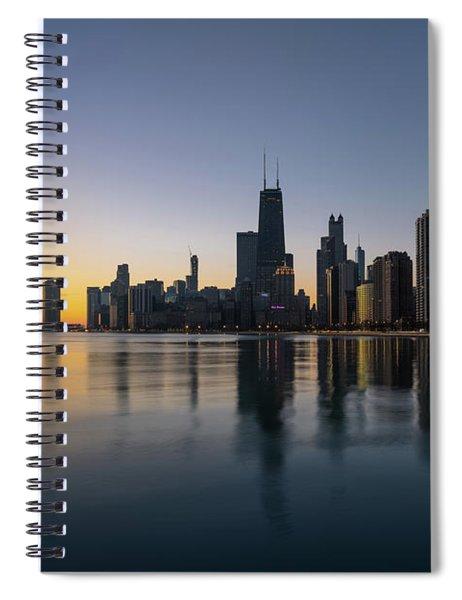 Chicago Lakefront Dawn Spiral Notebook