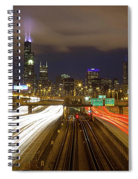 Chicago Skyline South Side View Spiral Notebook