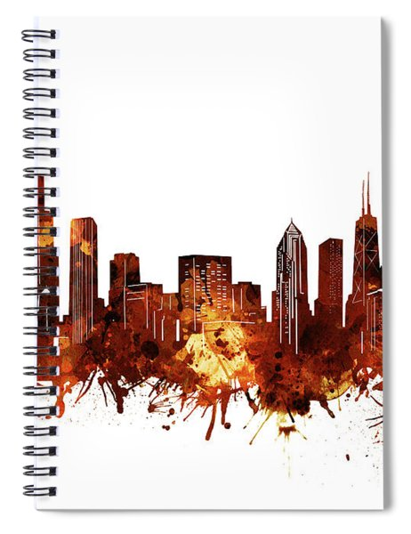 Chicago Skyline Watercolor 6 Spiral Notebook