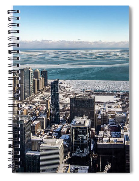 Chicago View Angled Spiral Notebook