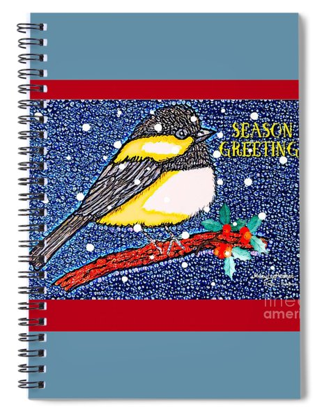 Chickedee Season Greeting Card  Spiral Notebook