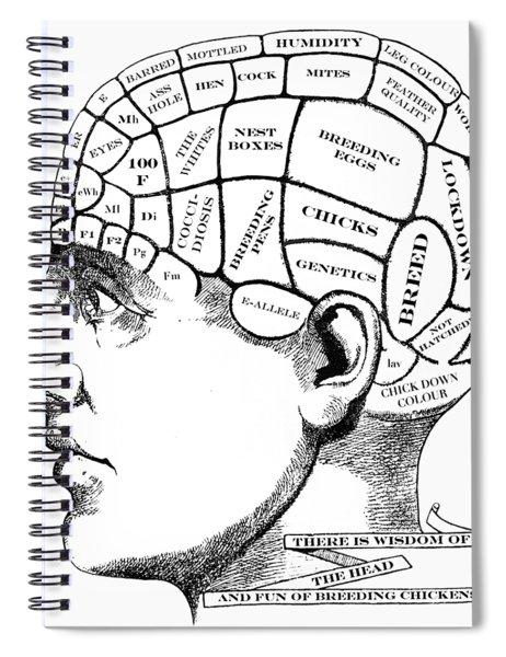 Chickens On My Mind Spiral Notebook