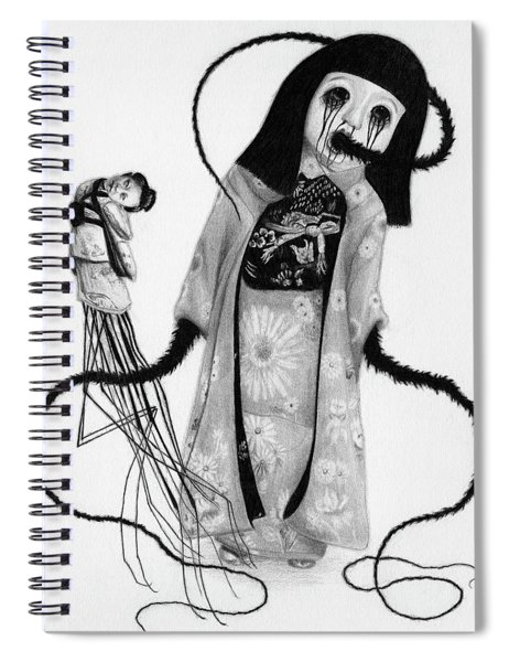 Chikako The Doll Girl Of Kanagawa - Artwork Spiral Notebook