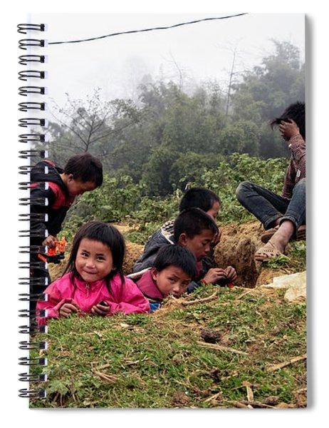 Children At Play - Sapa, Vietnam Spiral Notebook