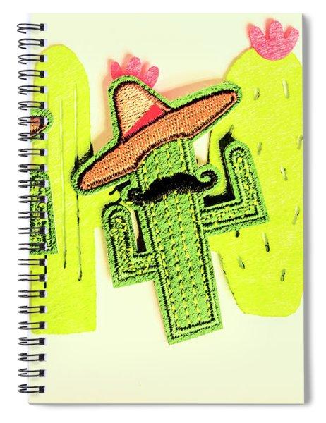Chili Con Cacti Spiral Notebook