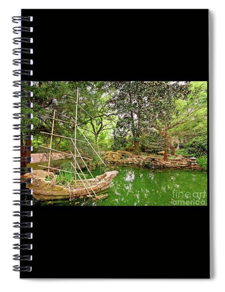 Chinese Stone Ship Spiral Notebook