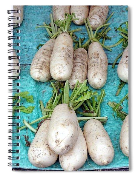 Chinese White Large Radishes Spiral Notebook