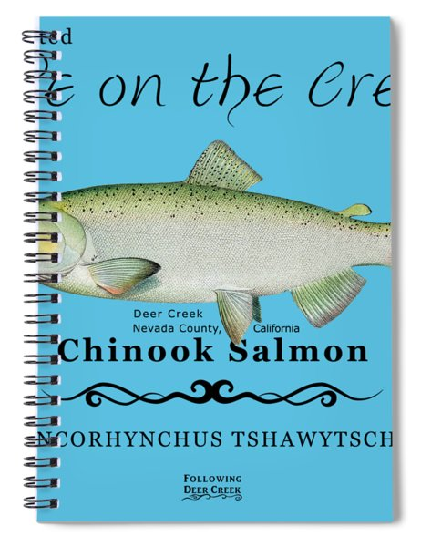 Chinook Salmon Disrupted Spiral Notebook