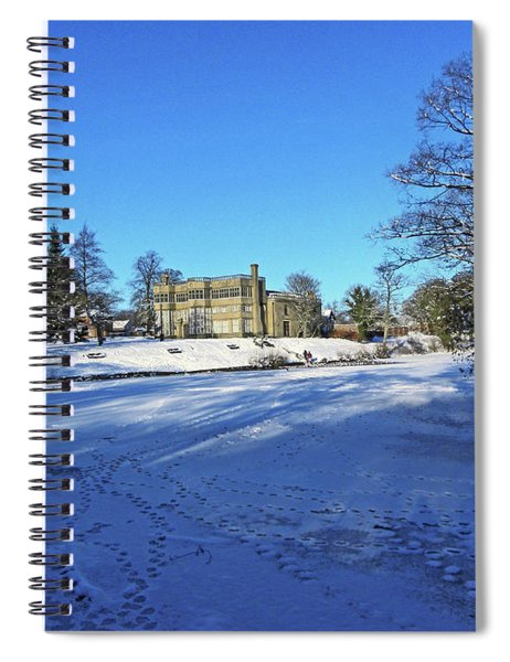 Chorley. Astley Hall In The Snow Spiral Notebook