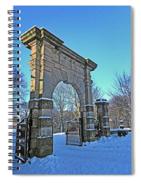 Chorley. Gates In The Snow Spiral Notebook