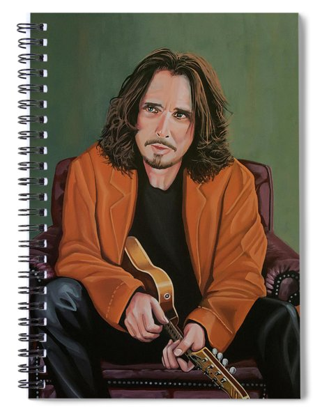 Chris Cornell Painting Spiral Notebook