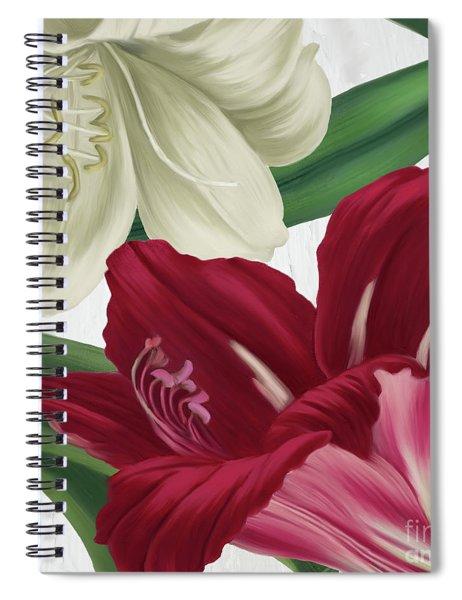 Christmas Amaryllis I Spiral Notebook