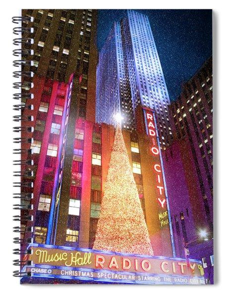 Christmas At Radio City Music Hall Spiral Notebook