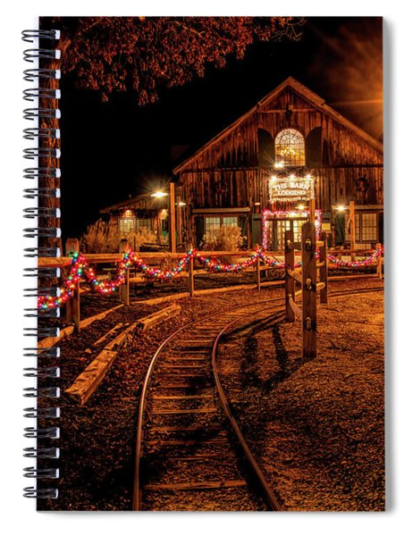 Christmas At The Barn In Smithville Spiral Notebook