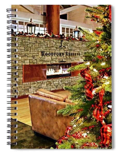 Christmas At Woodford Reserve Spiral Notebook