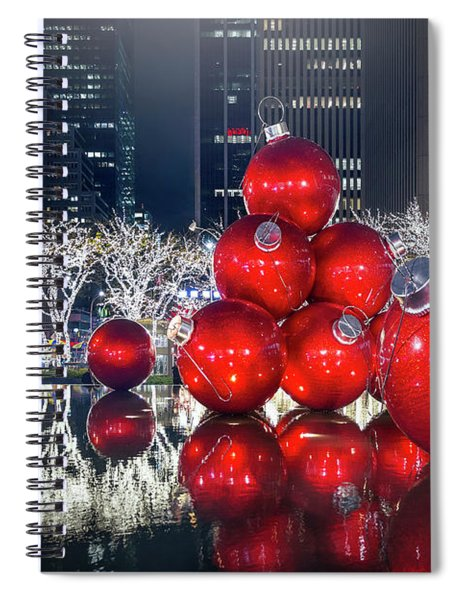Christmas Comes To Town Spiral Notebook