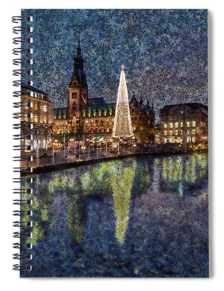 Christmas Hamburg Spiral Notebook