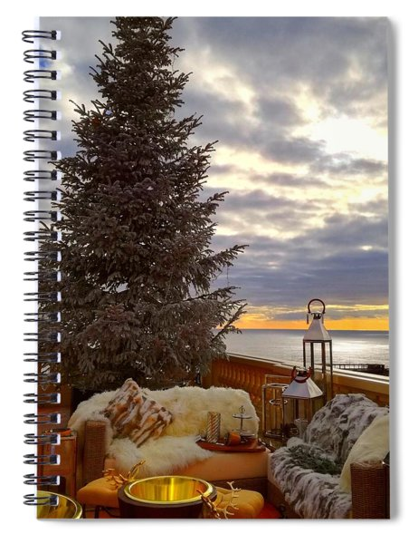 Christmas In Monte Carlo Spiral Notebook
