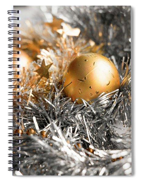 Christmas Tinsel Hue Spiral Notebook