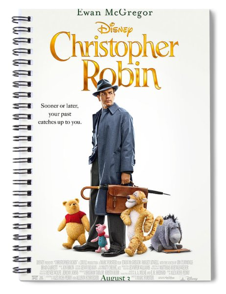 Christopher Robin Spiral Notebook