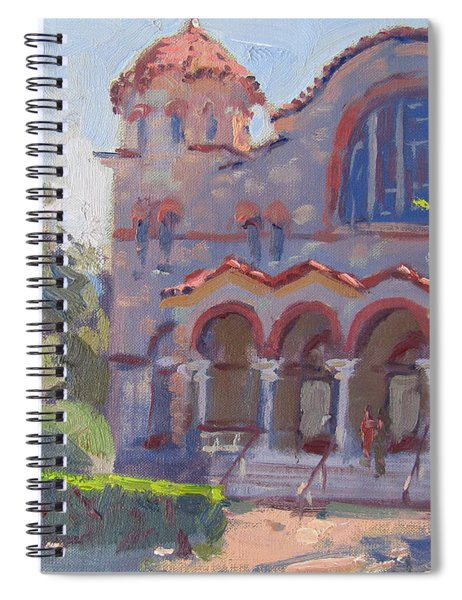 Church At Nea Erythraia Athens Spiral Notebook