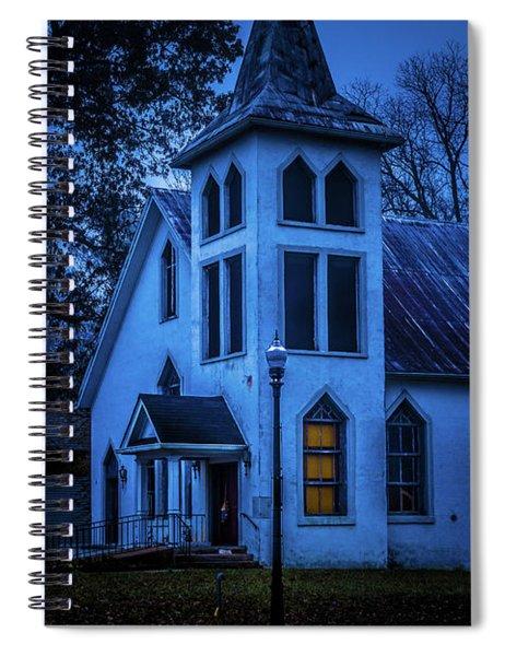 Church At Night Spiral Notebook